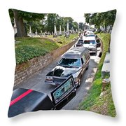 Hearses At Laurel Hill Cemetery Throw Pillow