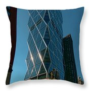 Hearst Building Throw Pillow