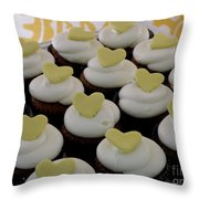 Heart Cupcakes Throw Pillow