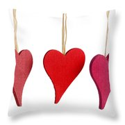 Heart Decorations Throw Pillow
