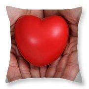 Heart Disease Prevention Throw Pillow