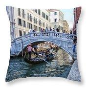 Heart In Venice Throw Pillow