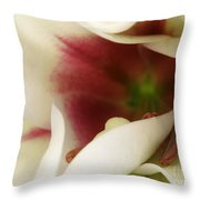 Heart Of A Lily Throw Pillow