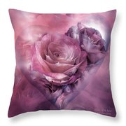 Heart Of A Rose - Mauve Purple Throw Pillow