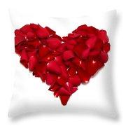 Heart Of Petals Throw Pillow