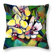 Heart Of The Orchid Throw Pillow