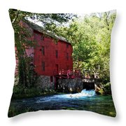 Heart Of The Ozarks Throw Pillow by Lianne Schneider