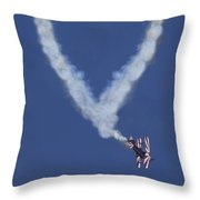 Heart Shape Smoke And Plane Throw Pillow