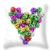 Heart Shaped Christmas Bows  Throw Pillow