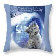 Heart Warmer Card Throw Pillow