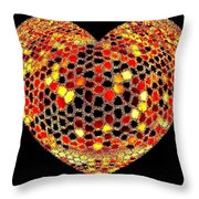 Heartline 7 Throw Pillow