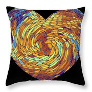 Heartline 8 Throw Pillow by Will Borden