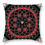 Hearts And Lace 2012 Throw Pillow