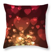 Hearts Background Throw Pillow