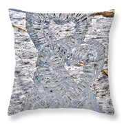 Hearts Cold As Ice Throw Pillow