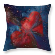 Hearts In Space Throw Pillow