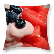 Heat Quencher Throw Pillow by Barbara Griffin