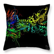 Heat Shock Protein 90 In A Larger Throw Pillow