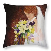 Heather's Special Day Throw Pillow
