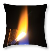 Heating Lime Limelight Throw Pillow