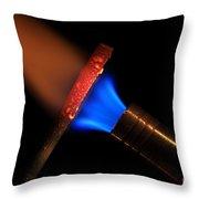 Heating Metal 1 Of 3 Throw Pillow