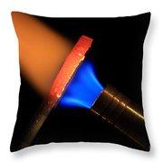 Heating Metal 2 Of 3 Throw Pillow
