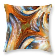 Heatwave Abstract Throw Pillow