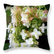 Heavenly Hydrangea Throw Pillow