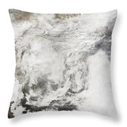 Heavy Snowfall In China Throw Pillow by Stocktrek Images
