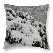 Heavy With Snow Throw Pillow