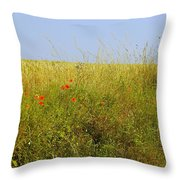 Hedgerow Flowers Throw Pillow