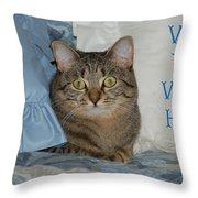 Heidi Cat Miss You Throw Pillow