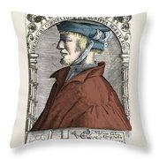 Heinrich Cornelius Agrippa, German Throw Pillow