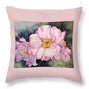 Heirloom Bloosoms Throw Pillow