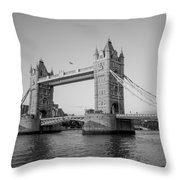 Helicopter At Tower Bridge Throw Pillow