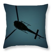 Helicopter Silhouette Throw Pillow