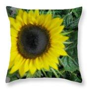 Helios Flower Throw Pillow