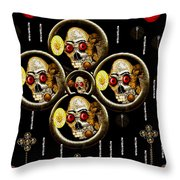 Hell Flowers Throw Pillow