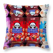 Hello Panda Biscuits Throw Pillow