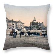 Helsinki Finland - Senate Square Throw Pillow