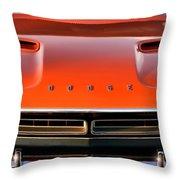 Hemi Orange 1971 Dodge Challenger Throw Pillow