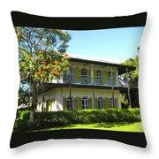 Hemingway's House Throw Pillow