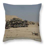 Hemtt Trucks Carry Combat Modified Throw Pillow