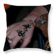 Henna Hand Throw Pillow