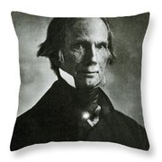 Henry Clay Sr., American Politician Throw Pillow
