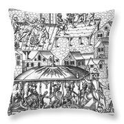 Henry Iv Of France Throw Pillow