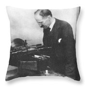 Henry Rowland, American Physicist Throw Pillow