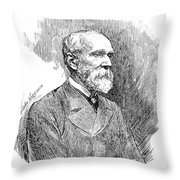 Henry Yule (1820-1880) Throw Pillow