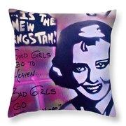Hepburn Gangstah Throw Pillow