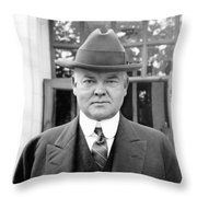 Herbert Hoover - President Of The United States Of America - C 1924 Throw Pillow